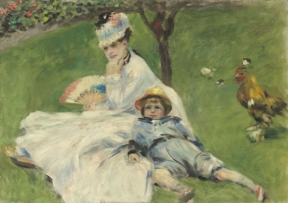 Renoir, Pierre Auguste: Madame Monet and Her Son. Fine Art Print/Poster. Sizes: A4/A3/A2/A1 (003960)